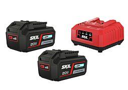 """SKIL 3112 BA Acumulatori litiu-ion (""""20V Max"""" (18 V) de 4,0 Ah cu tehnologie """"Keep Cool™"""") şi încărcător"""