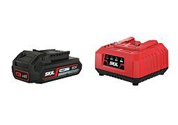 "SKIL Acumulator (""20V Max"" (18 V) 2,0 Ah ""Keep Cool™"", litiu-ion) şi încărcător"
