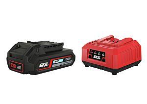 """SKIL 3110 AA Acumulator (""""20V Max"""" (18 V) 2,5 Ah """"Keep Cool"""" Li-Ion) şi încărcător"""